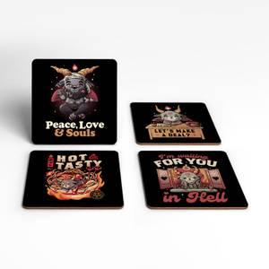Kawaii Satan Coaster Set