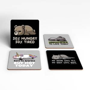 Motivational Animals Coaster Set