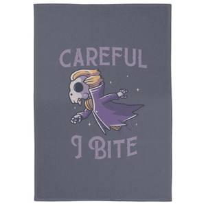 Careful I Bite Tea Towel