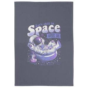 Chilling In Space Tea Towel