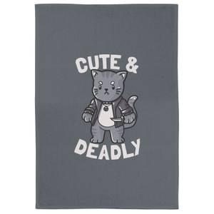Cute And Deadly Tea Towel
