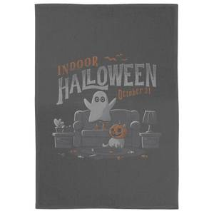 Indoor Halloween Tea Towel