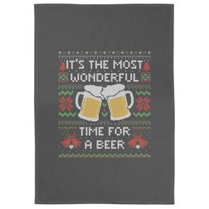 Its The Most Wonderful Time For A Beer Tea Towel