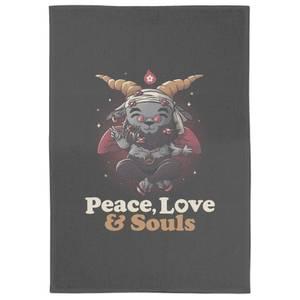 Peace Love And Souls Tea Towel