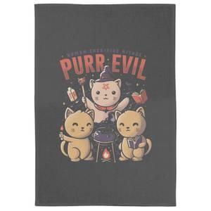Purr Evil Tea Towel