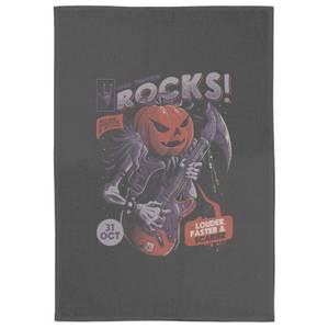 Rock Pumpkin Tea Towel