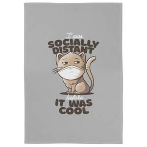 Socially Distant Cat Tea Towel