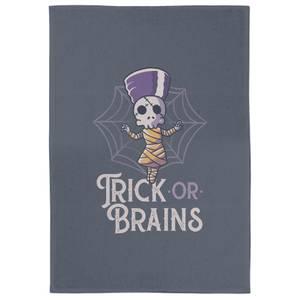 Trick Or Brains Tea Towel