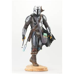 Gentle Giant The Mandalorian Premier Collection Statue - The Mandalorian with Child