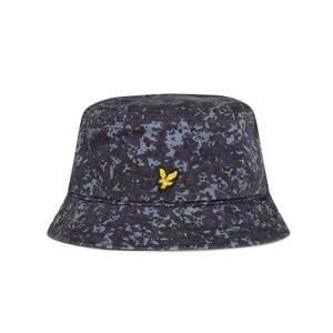 Cotton Twill Bucket Hat - Navy Earth Print
