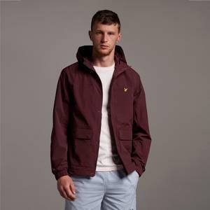 Hooded Pocket Jacket - Burgundy