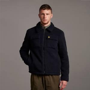 Collared Pile Jacket - Dark Navy
