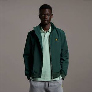 Fleece Lined Funnel Neck Jacket - Dark Green