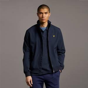 Fleece Lined Funnel Neck Jacket - Dark Navy