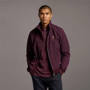 Fleece Lined Funnel Neck Jacket - Burgundy