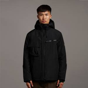 Casuals Wadded Dual Pocket Jacket with Face Guard - Jet Black
