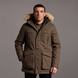 Winter Weight Micro Fleece Lined Parka - Olive