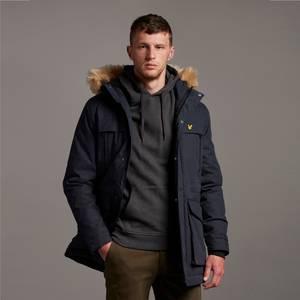 Winter Weight Micro Fleece Lined Parka - Dark Navy
