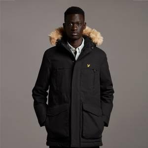 Winter Weight Micro Fleece Lined Parka - Jet Black