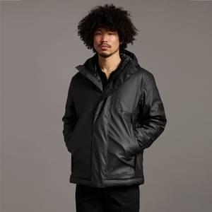 Black Eagle Hooded Matte Jacket - Jet Black