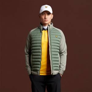 Quilted Front Fleece Back - Cactus Green