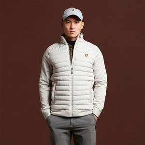 Quilted Front Fleece Back - Pebble