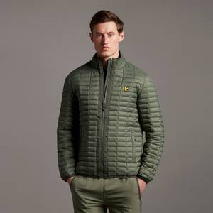 Block Quilted Jacket - Cactus Green