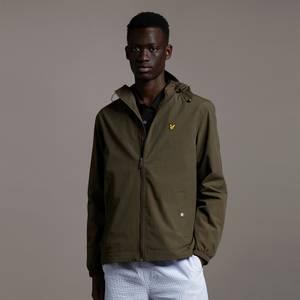 Zip Through Hooded Jacket - Olive