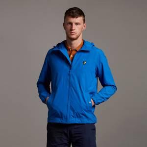 Zip Through Hooded Jacket - Bright Blue