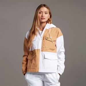 Utility Patchwork Jacket - White/Tan