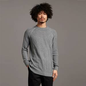 Black Eagle Tipped Cable Jumper - Concrete Marl