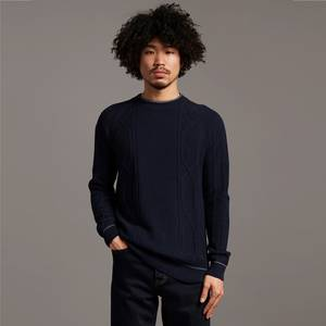 Black Eagle Tipped Cable Jumper - Dark Navy