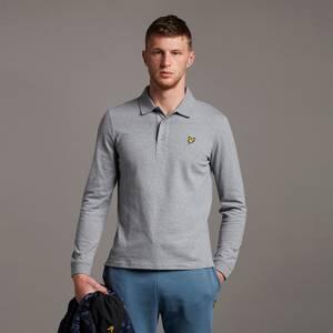 LS Polo Shirt - Mid Grey Marl