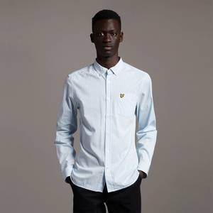 LS Slim Fit Gingham Shirt - Light Blue/ White