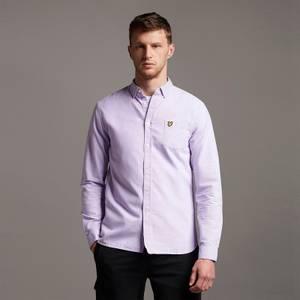 Regular Fit Light Weight Oxford Shirt - Amethyst/ White
