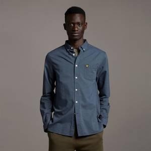 Regular Fit Light Weight Oxford Shirt - Slate Blue/ Dark Navy