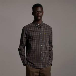 Check Poplin Shirt - Dark Navy/ Olive