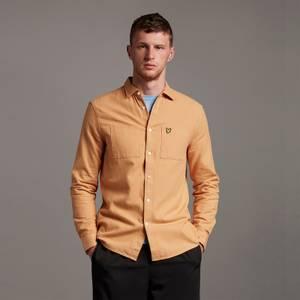 Brushed Twill Shirt - Tan