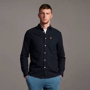 Brushed Twill Shirt - Dark Navy