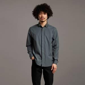Black Eagle Rib Collar Poplin Shirt - Deep Green
