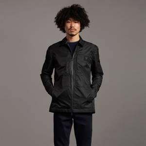 Black Eagle Nylon Overshirt - Jet Black