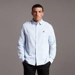Cotton Linen Stripe Shirt - Light Blue