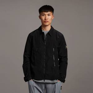 Casuals Dual Zip Overshirt - Jet Black