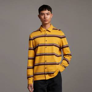 Archive Heavy Stripe Overshirt - Amber