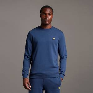 Crew Neck with Contrast Piping - Navy