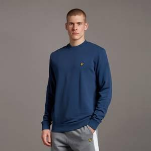 Washed Crew Neck Sweatshirt - Navy
