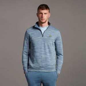 Space Dye 1/4 Zip Sweatshirt - Slate Blue