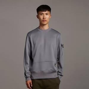 Casuals Tricot Crew Neck Sweatshirt - Mid Flat Grey