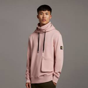 Casuals Face Covered Hoodie - Stone Pink