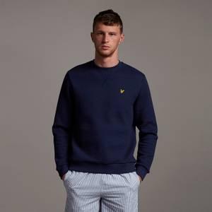 Ribbed Jersey Sweatshirt - Navy